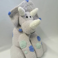 Grey Dinosaur Soft Toy - Teddy Bear