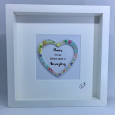 Personalised for Mothers Button Frame Gift