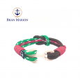 Red, Black and Green Achilles Nautical Unisex Bracelet