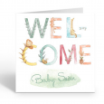 Personalised Welcome New Baby Boy or Girl  Greeting Card