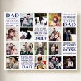 Personalised Dad We Love You Collage On Canvas