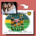 Personalised Hand Drawn Dads Dream Team Family Caricature Portrait