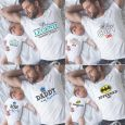 Fathers Day Dad and Baby T-shirt Gift Set