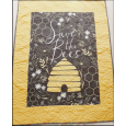 Personalised Save the Bees Newborn Baby Quilt