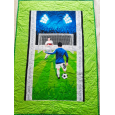 Soccer baby quilt