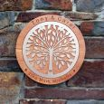 Handcrafted 45cm Tree of Life Wooden Plaque Wedding Gift