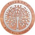 Handcrafted 60cm Tree of Life Wooden Plaque Wedding Gift