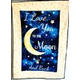 Personalised Moon Themed Baby Quilt