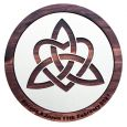 Personalised Trinity Knot Wall Hanging Irish Wooden Plaque 45cm