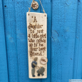 Personalised Parent and Daughter Wood and Pebble Art Gift