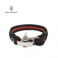 Adjustable Shackle Coral Beach Nautical Bracelet