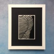 Female Bottom Light Through Blinds Lino Print