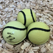 Pack of 12 Wall Ball or All Weather Size 4 Yellow Sliotars