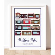An A3 Print of Pubs in Dublin in Ireland