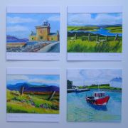 Gift Pack of 4 Beautiful Irish Landscape Art Greeting Cards
