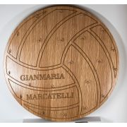 Personalised Wooden Volleyball Medal Board