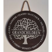 Personalised Handpainted Grandchildren Tree of Life Sign