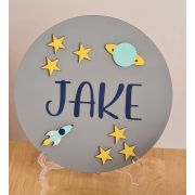 Personalised Space Theme Kids Room Name Sign