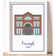 Colourful A3 Art Print of the English Market in Cork City