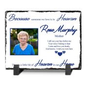 Personalised Because Your In Heaven Memorial on Irish Slate