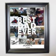 Personalised Best Dad Ever Photo Framed Collage