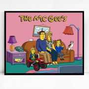 Personalised Hand Drawn Simpsons Family Caricature Portrait Gift