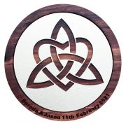 Handcrafted 30cm Trinity Knot Wall Hanging Wooden Plaque