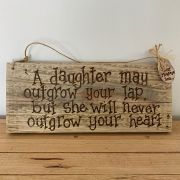 Recycled Father and Daughter Personalised Wooden Sign