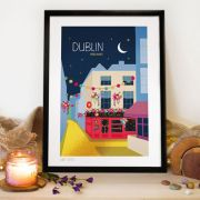 A Signed Print of Temple Bar in Dublin