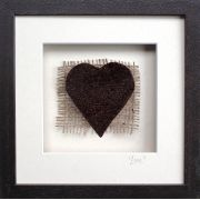 Large Irish Bog Love Heart in a Personalised Frame