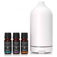 White Stone Essential Oil 120ml Diffuser including 3 x 10ml Oils