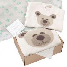 Exclusive Newborn Baby Bear Blanket and Baby Grow Gift Set