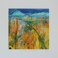 Limited Edition The View From The Hill In Yellow Print