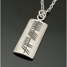 Personalised Sterling Silver Ogham Pendant Necklace