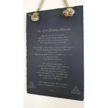 Engraved Slate with Irish Blessing and Sisal Rope