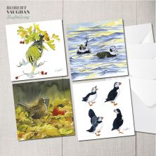 Pack of 4 Wildlife Design Cards