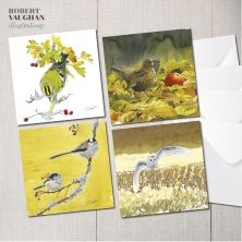 Pack of 4 Wildlife Design Greeting Cards