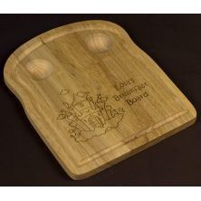 Personalised Wooden Breakfast Board - Suitable for Toast & 2 Eggs