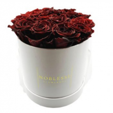Fresh Year Long Flowerbox Classic Bordeaux Roses