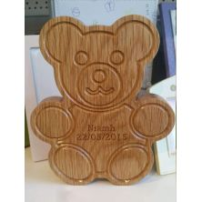 Personalised Wooden Bear