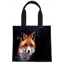 Stay Foxy Hand Printed Tote Bag