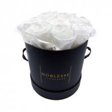 Year Long Fresh Classic White Roses - Small Flower Box