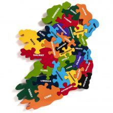 Educational Map of Ireland by County Jigsaw Puzzle
