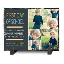 Personalised First Day At School Photo Collage on Irish Slate
