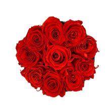 Fresh Year Long Classic Red Roses Flower Box