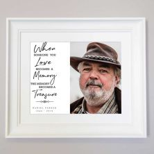 Personalised Treasure Their Memory Remembrance Framed Gift