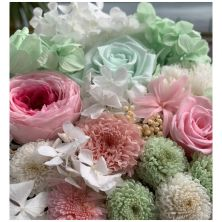 Year Long Symphony Pink and Mint Flower Box