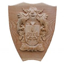 Personalised Irish Oak Handcrafted Family Coat of Arms Shield