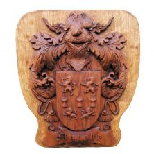 Personalised Irish Wooden Family Coat of Arms Plaque