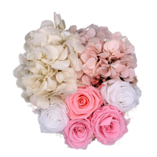 Year Long Fresh Pink and White Flower Box